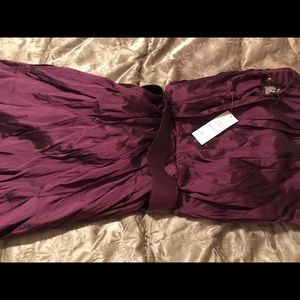 Adrianna Papell Purple belted dress NWT